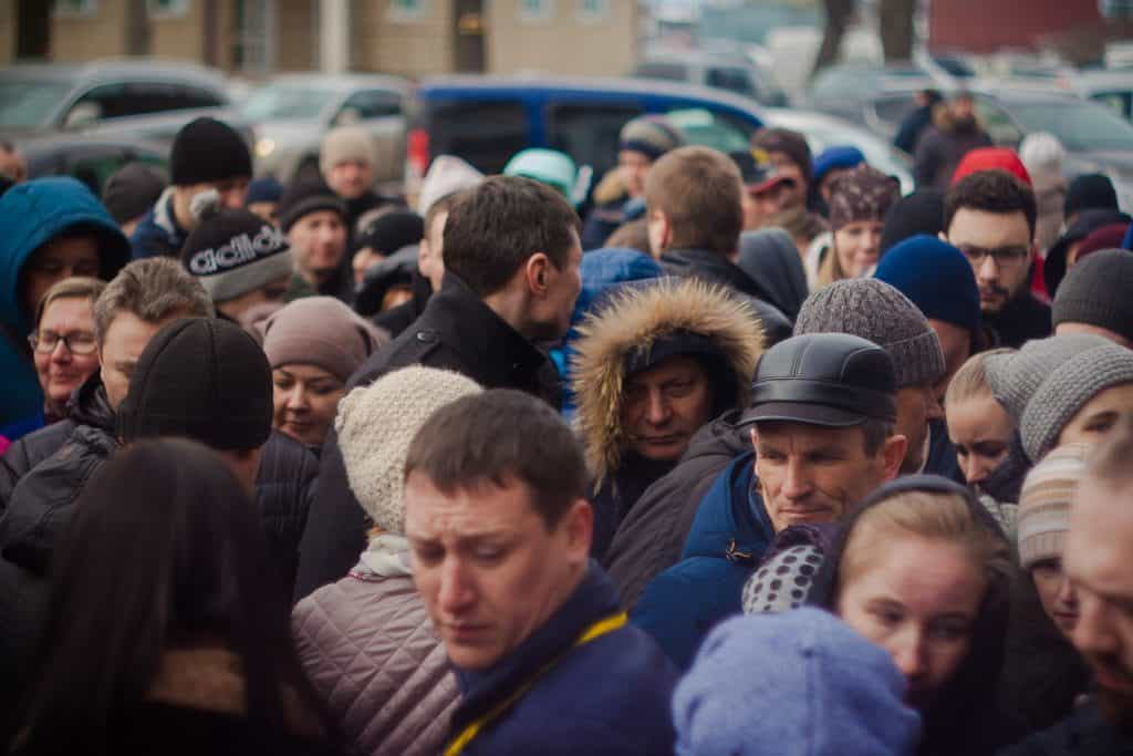 The Crowds of the high street